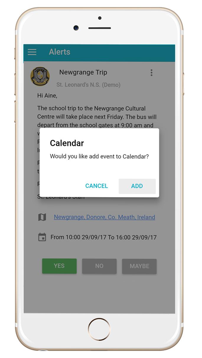 Komeer App Calendar Alerts Screen