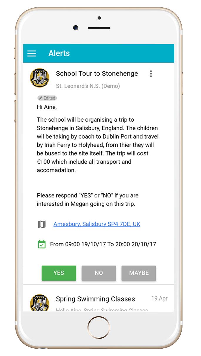 Komeer App Open Alerts Screen