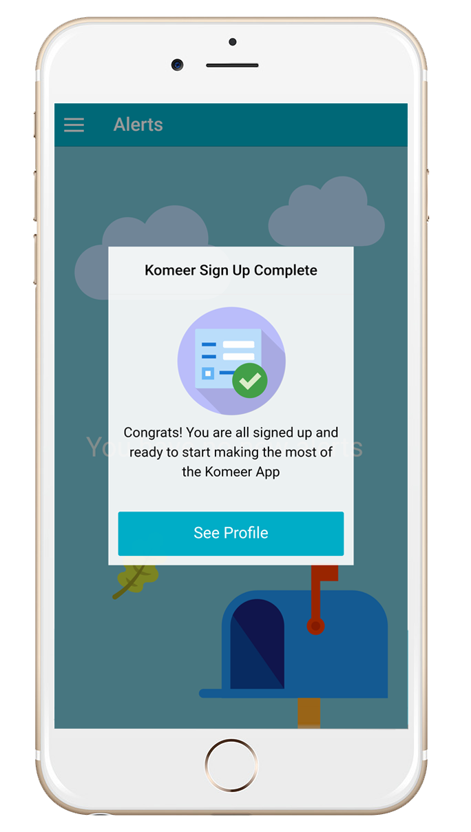 Komeer App Profile Screen Stage 4