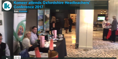 Komeer at the Oxfordshire Headteachers' Conference