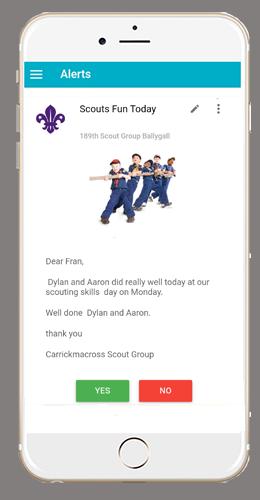 Scouts App Alert