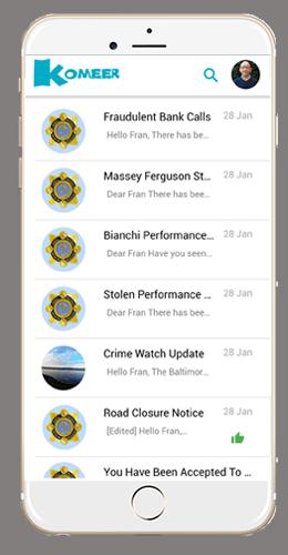 Komeer App Alerts Received