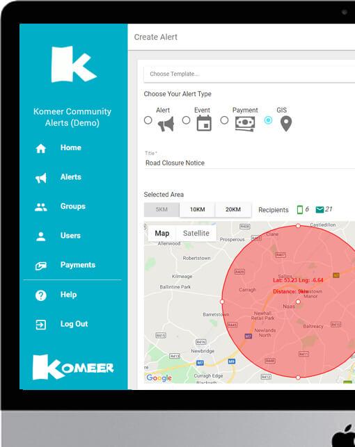 Komeer GIS Alert for County Councils